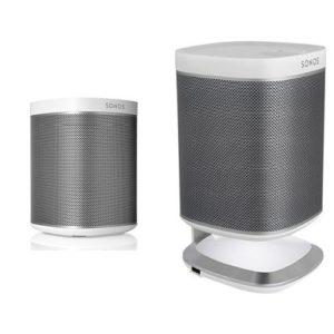 Sonos PLAY 1 WLAN-Speaker für Musikstreaming (Weiß) + Flexson Ladeständer platz 5